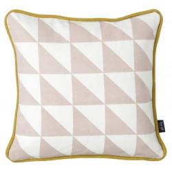 Little Geometry 30x30 Rose & Blanc