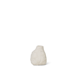 Vulca Mini vase Off White Stone