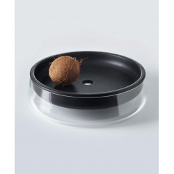 Double Bowl ø 35cm - chêne noir - glass smoke grey