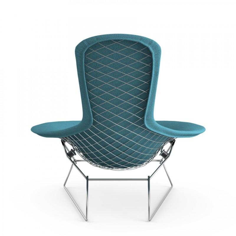 fauteuil haut dossier bird bertoia harry bertoia knoll. Black Bedroom Furniture Sets. Home Design Ideas