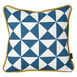 Little Geometry 30x30 Bleu & Blanc