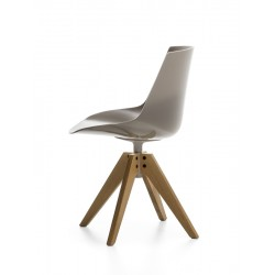 Flow Chair Color Pieds Bois en V